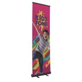 "24"" Banner Retractor Kit with No-Curl Opaque Fabric"
