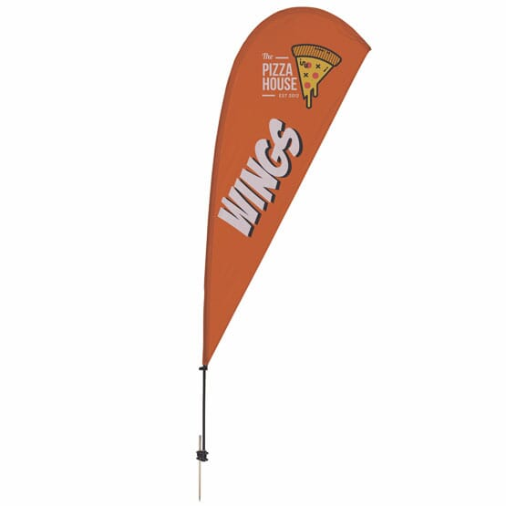 9 1/2 ft Teardrop Single-Sided Banner Kit