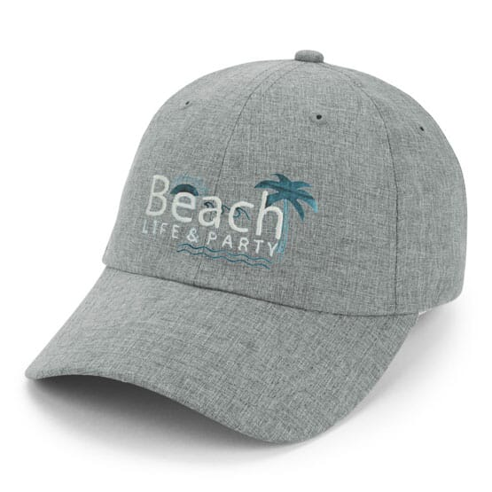 953956660406b6 Fitted Chambray Linen Cap - Promotional | Crestline