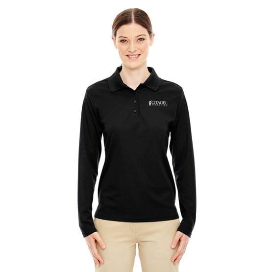 Core 365™ Long Sleeve Pique Polo Shirt – Ladies'
