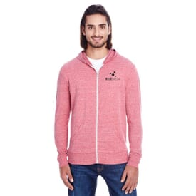 Threadfast Full Zip Heathered Hoodie - Unisex
