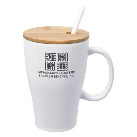 12 oz Mug with Bamboo Lid & Removable Spoon