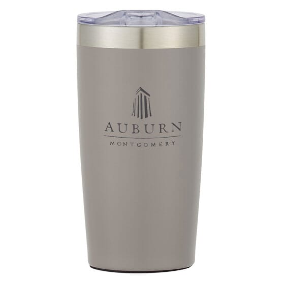 Customized gray travel mug