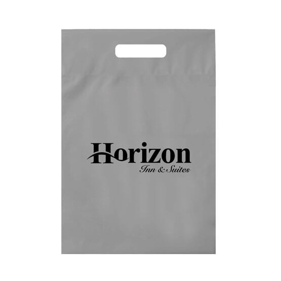 """9"""" X 12"""" Plastic Bag With Fold-Over Die-Cut Handles 121208"""