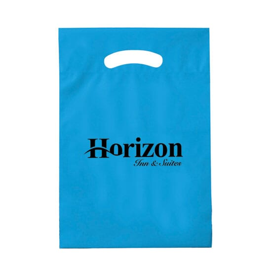 "9"" x 12"" Plastic Bag with Fold-Over Die-Cut Handles"
