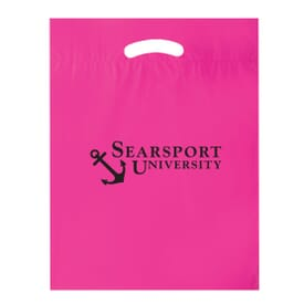 "12"" x 15"" Plastic Bag with Fold-Over Die-Cut Handles"