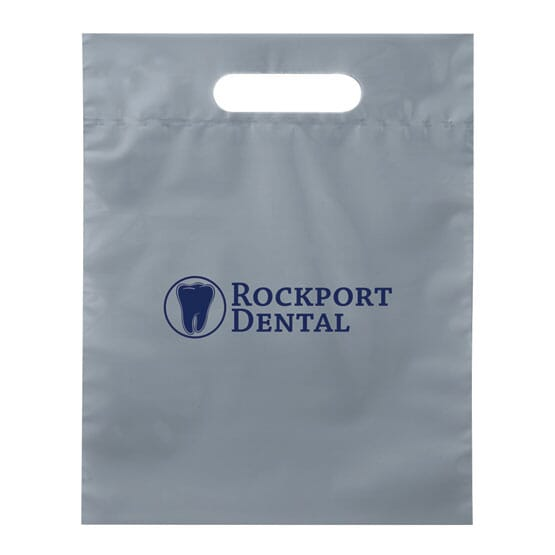 "15"" X 19"" Plastic Bag With Fold-Over Die-Cut Handles 121210"