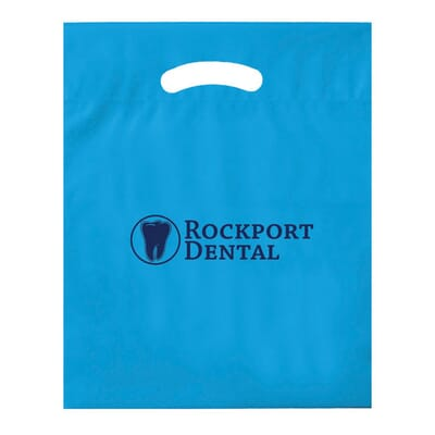 Blue biodegradable plastic bag