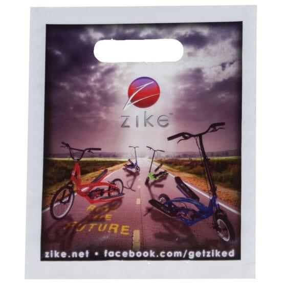 "7"" x 9"" Full Color Plastic Bags with Die-Cut Handles"