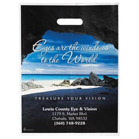 "12"" x 16"" Full Color Plastic Bags with Die-Cut Handles"