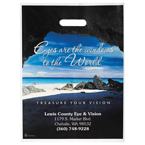 "12"" X 16"" Full Color Plastic Bags With Die-Cut Handles 121213"