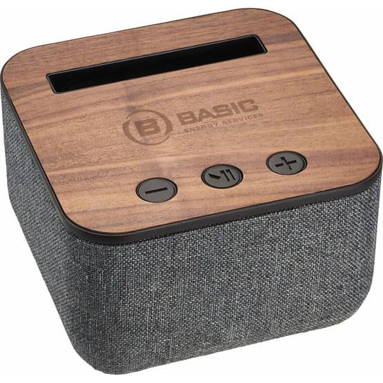 Shae Fabric Bluetooth® Speaker with Wood Base
