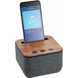Shae Fabric Bluetooth® Speaker with Wood Base