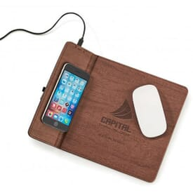 Wireless Woodgrain Charger/Mouse Pad
