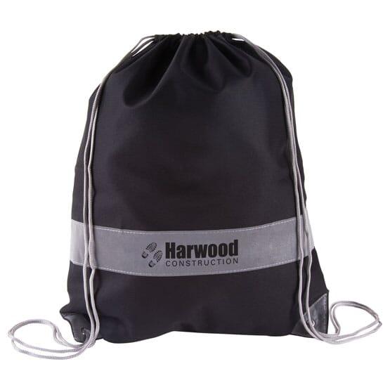 Reflective Panel Drawstring Bag