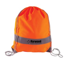 Reflective Panel Drawstring Bag