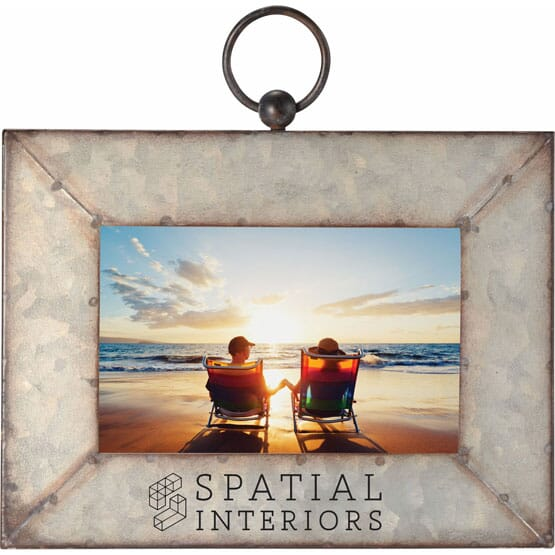 """4"""" x 6"""" Galvanized Metal Picture Frame"""
