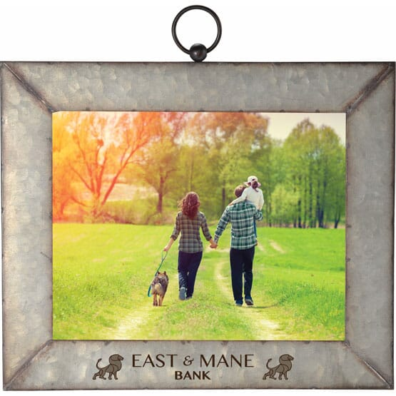 """8"""" x 10"""" Galvanized Metal Picture Frame"""