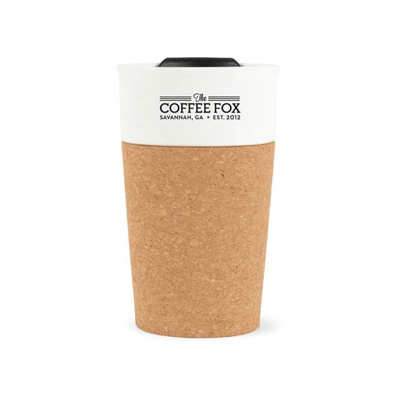 9 oz Porcelain and Cork Tumbler