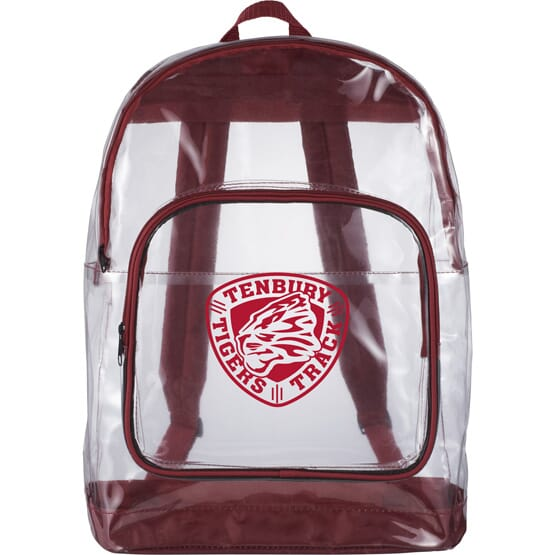 Clear Backpack with School Logo
