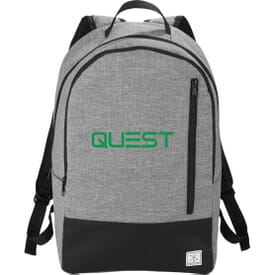 "Heather Gray 15"" Computer Backpack"