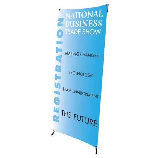 2 1/2 ft x 6 ft Indoor Banner Kit with Stand