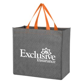 Charcoal Gray Non-Woven Shopping Tote