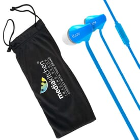 iLuv® Tangle-Free Ear Buds with Microphone