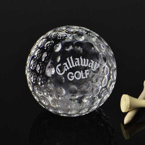 Classic Crystal Golf Ball Paperweight