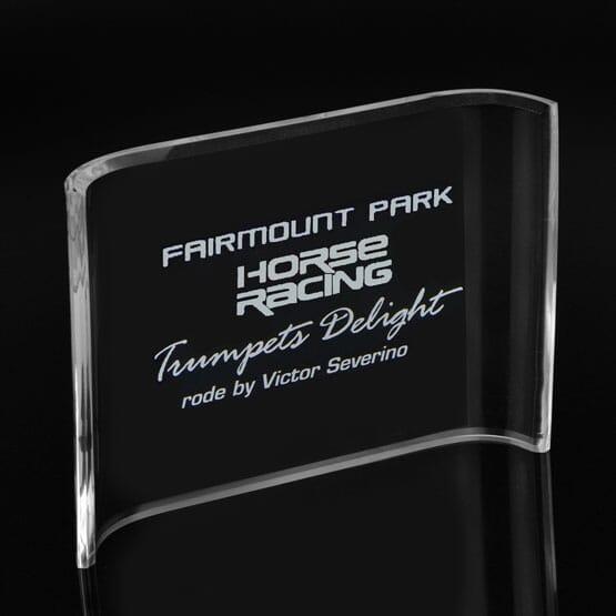 "5"" x 7"" Benchmark Crescent Acrylic Award"