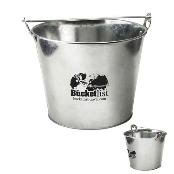 Galvanized Steel Ice Bucket with Bottle Opener