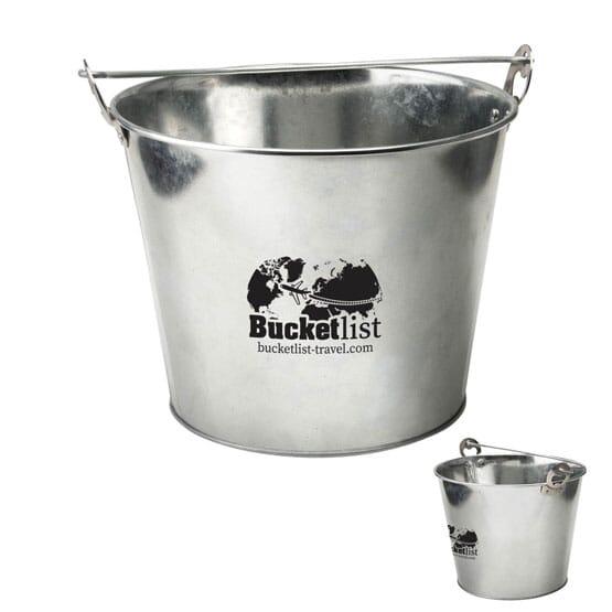 Galvanized Steel Ice Bucket with Bottle Opener