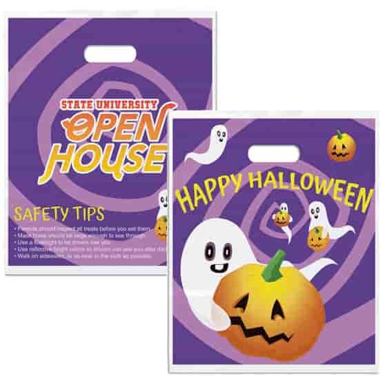 Full Color Purple Plastic Halloween Treat Bag