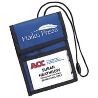 Custom Trade Show Neck Wallets & Vinyl ID Badge Holders with Logo
