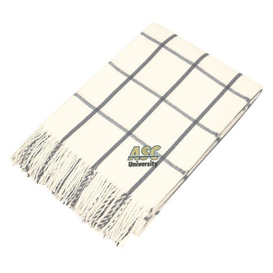 Windowpane Plaid Throw Blanket