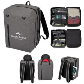 Travel Backpack with Shoe and Hat Organizer