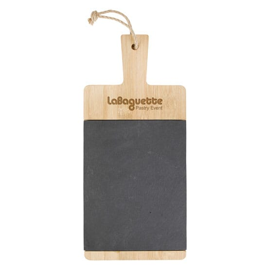 Message Bamboo and Slate Cutting Board