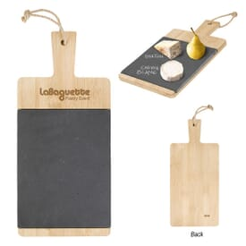 Message Bamboo & Slate Cutting Board