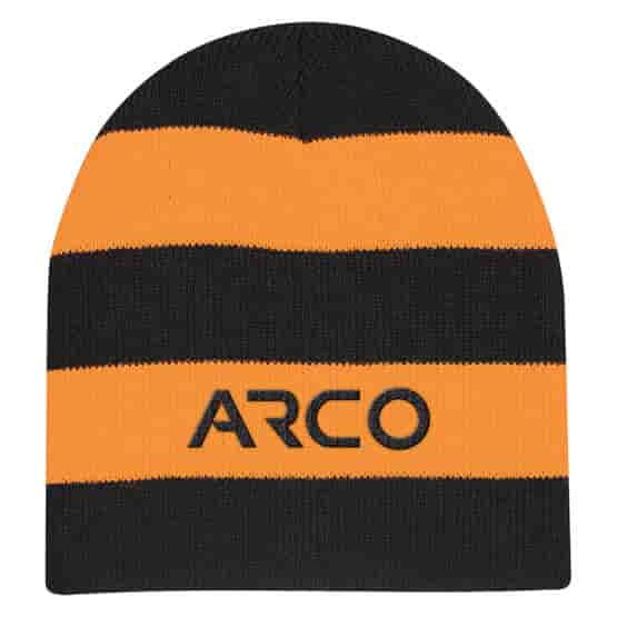 Bold Striped Rugby Knit Beanie