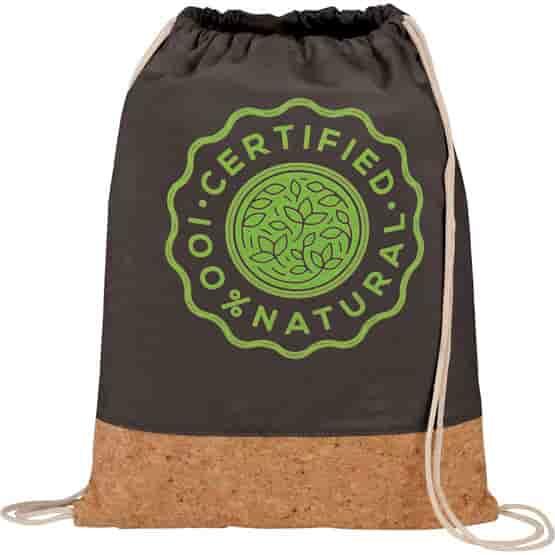 Go Natural Cotton Canvas Drawstring Bag