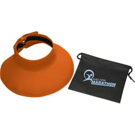 Beach Brim Roll-Up Sun Hat with Pouch