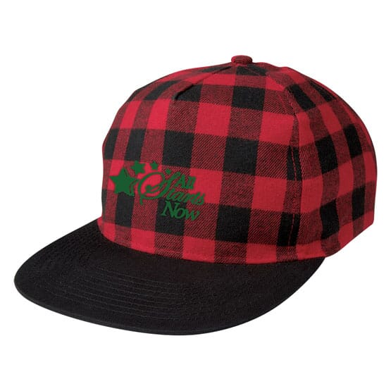 Buffalo Plaid Structured Cap