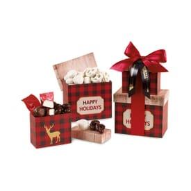 Holiday Sweets Plaid Gift Box Set