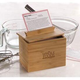 "4"" x 6"" Bamboo Recipe Box"