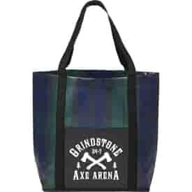 Buffalo Plaid Laminated Tote Bag