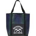 Buffalo Plaid Laminated Tote Bag