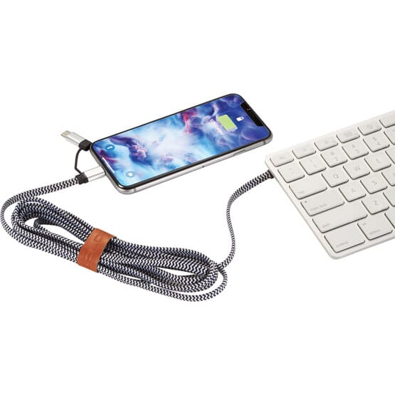 3-in-1 Cotton Canvas Charging Cable
