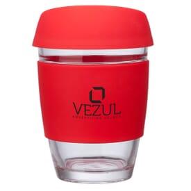 12 oz Rizzo Perka® Glass Mug w/ Silicone Accents