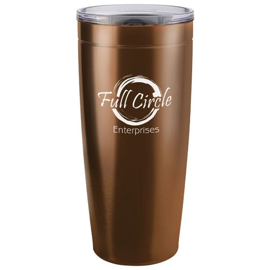 Vacuum insulated travel mug with logo