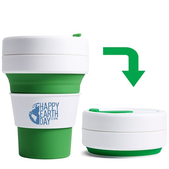 3514e594540 12 oz Stojo Collapsible Cup - Promotional Giveaway | Crestline